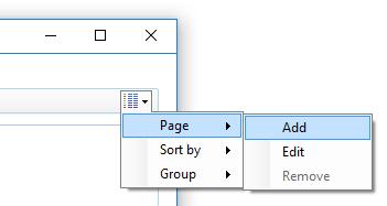 Adding a custom page
