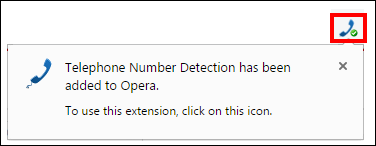 Add Opera extension message