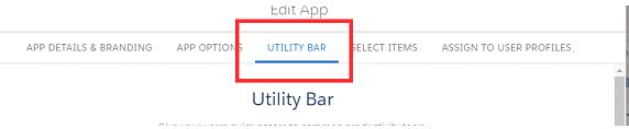 Utility bar