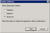 Deploy software window